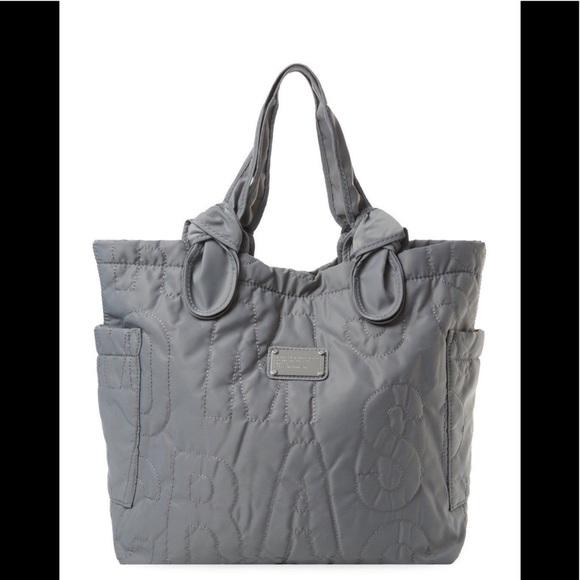 06efb802ad Bags | Marc By Marc Jacobs Pretty Tate Nylon Tote Grey | Poshmark